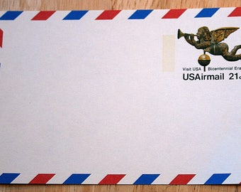 Mint USPS Airmail Stamped Postcard--Scott #UXC16--Weathervane 21c--Visit USA Bicentennial Era--1975 --Shipping Included