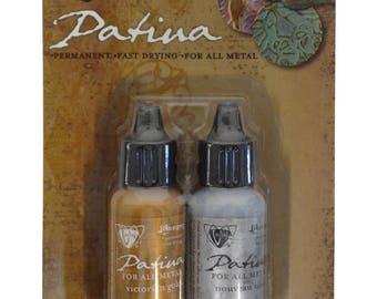 Vintaj® Ranger Patina™ Inks Treasured Heirloom Metallic Nouveau Silver & Victorian Gold Jewelry Making Kit - V-35596
