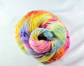 Speckled Sock Yarn, Speckled Wool Yarn, SW Merino Nylon, SW Merino Sock, Speckled Merino Yarn, Indie Dyed Yarn, Sunshine Drizzle