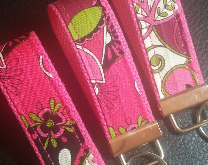 Key Chains-Key Rings-Key Fobs-Mod Squad Pink n' Hot Pink Webbing