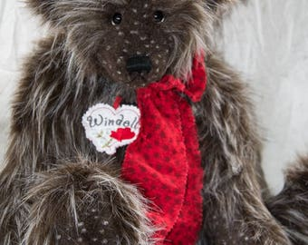 "Windell Bear 22"" Faux Fur Artist Teddy Bear by Patricia Bruce"