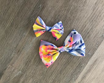 SO SNAPPY Lilly Pulitzer Fabric Bow 2 sizes