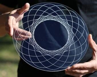 Golden Ratio Fibonacci Laser Cut Crystal Grid Artwork