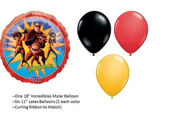 Incredibles Balloon Set