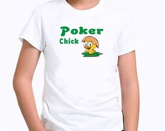 Poker chick Children T-Shirt