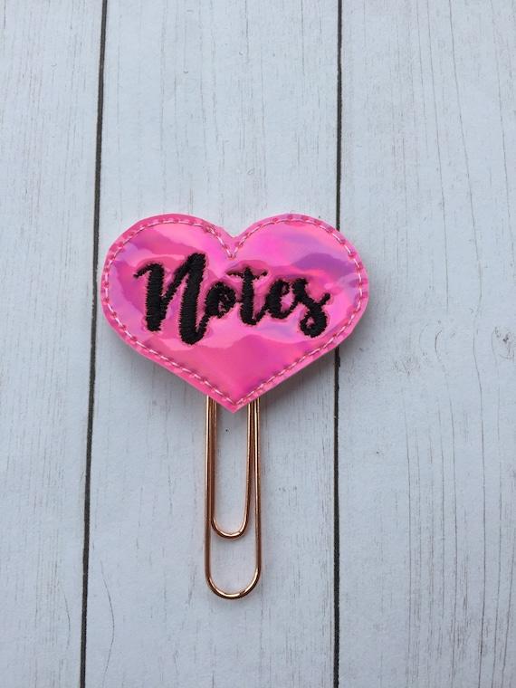 Hot Pink Notes Planner Clip/Planner Clip/Bookmark. Notes Planner Clip. Hot Mess. Word Planner Clip. Heart Planner Clip