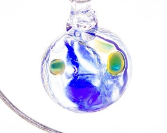 405027 Medium Hand Blown Hanging Art Glass Ball Decorative Ornament