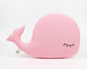 Bright Pink Whale Pillow, Whale Cushion, Whale Plush Toy, Pink Pillow, Baby Pillow, Kids Pillow, Whale Stuffed Toy, Throw Pillow