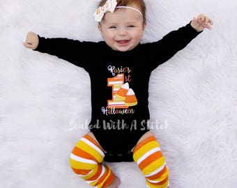 Candy Corn 1st Halloween Bodysuit