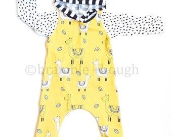 Llama Romper w/ Bum Flap, Baby Boy, Baby Girl, Gender Neutral, Organic Knit