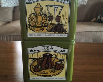 Harper Ransburg Coffee and Tea Canisters