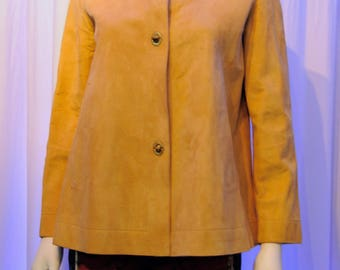 1960s BONNIE CHASIN Sills Camel Color Suede Swing Turn Key Jacket