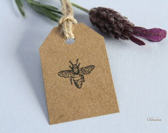 Bee Rubber stamp. Weddings. DIY. UK made