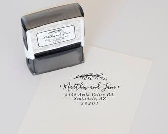 Custom Address Stamp, Self Inking Return Address Stamp, Personalized Address Stamp, Custom Stamp, Wedding address Stamp & invitation stamp