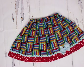 Girl skirt  Back to school skirt, school  skirt  Girl Skirt Toddler skirt Girl clothes Skirt Girls School