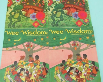 Vintage Wee Wisdom Magazine Lot of 4 1971 Free Shipping
