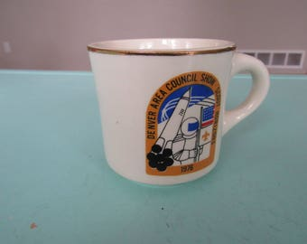 Vintage Boy Scouts Denver Area Council Show Scout Horizons 1976 Mug Coffee Cup Free Shipping