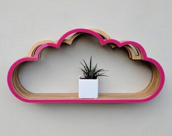 Beautiful Cloud Shelving - Bright Pink