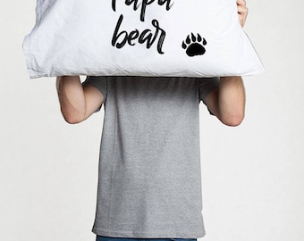 Papa Bear Fathers day Gift for dad gifts papa bear pillow gift for father day gift from daughter father's day gift from son funny father day