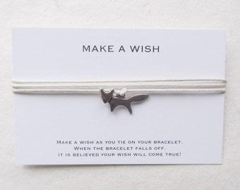 Wish bracelet, fox bracelet, wrap bracelet, make a wish