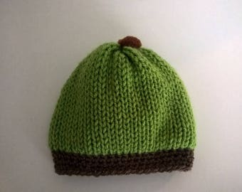Baby double knit wool hat