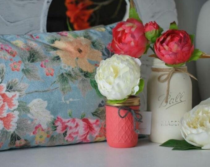 Hand Painted Ball Mason Jar // Centrepieces // Flower Vase //  Wedding Decor // Teachers Gift // Home Decor // Unusual Gift Ideas, Unique