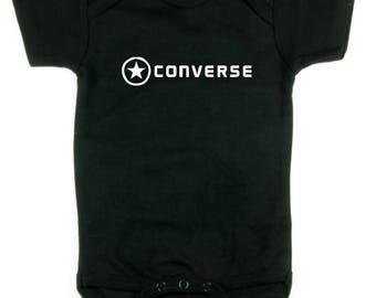 Converse Skater Bodysuit Onesy 6 Colors Guitar Rock n Roll Punk all star BMX Geek NErd Full Shirt Swaddler Runner