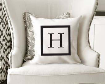 Monogrammed Pillow Covers, Monogrammed Pillow, Initical Pillow, Custom Pillow