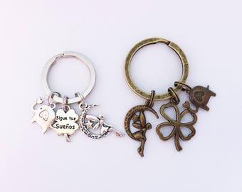 SHAMROCK Keychain Shamrock Keyring Shamrock Gift Trefoil Keychain Trefoil Keyring Fortune Keychain Fortune Gift Fairy Keychain Good Luck