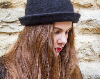Black vintage bowler hat