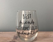 Godmother Gift | Best Friends Get Promoted to Godmother Coffee Mug | Pregnancy Announcement Gift | Best Friend Present | God Mom | Godmother