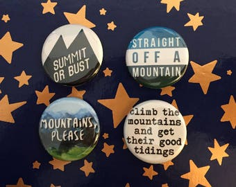 Mountains Please Pinback Buttons