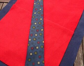 1960's Vintage Blue Patterned Tie
