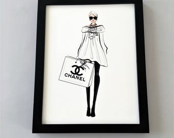 Coco Chanel Print, Coco Chanel Art, Coco Chanel Print, Coco Chanel, Chanel Print, Chanel Wall Art, Fashion Art, Fashion Print, Chanel Art