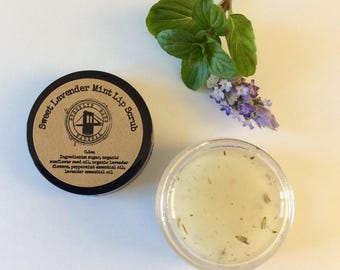Organic Lip Scrub - Lip Scrub - Sugar Scrub - Lip Sugar Scrub - Scrub for Lips - Lavender Mint Scrub - Lip Exfoliating - Face Scrub