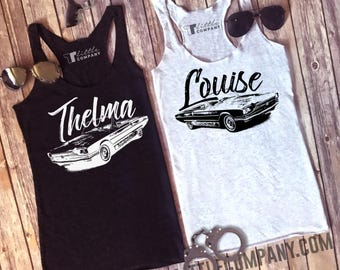 Thelma & Louise Women's Tanks in Various Colors and Styles XS-4XL -- Listing is For ONE tank // Partner in Crime // BFF Matching Tanks