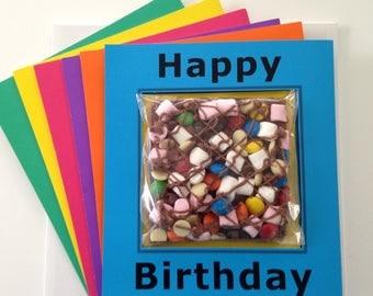 Chocolate Rocky Road Birthday Card Gift