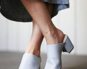 Minimalist Gold Beaded Ball Anklet // Ankle Bracelet // Anklet // Gift for Bridesmaids // Gift for Her