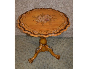 Tuscan Style Hand Painted Tilt Top Table