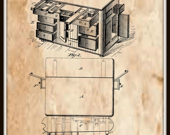 Kitchen Cabinet Patent#168397 dated October 5, 1875.