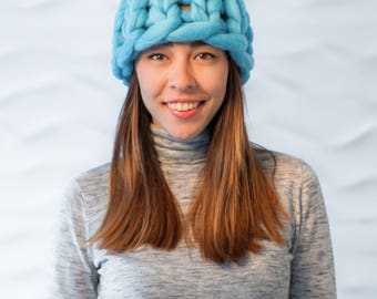 Knitted hat, Knitted Hat, Hand Knit Hat, Chunky hat, Wool hat, Pompom Beanie Knit Hat, knitting, hat, Merino wool