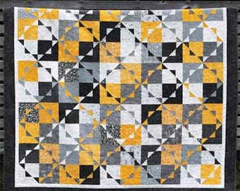 Kira - Quick and Simple Quilt Pattern - Layer Cake/10 inch Square Friendly Pattern in multiple sizes - by Gudrun Erla for G. E. Designs