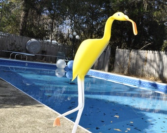 Mr. Cool Yellow PVC Yard Bird Art Flamingo Herring