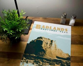 Badlands National Park Poster 11x17 18x24