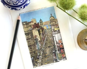 San Fransisco Greeting Card, Vintage Stationary, Note Card