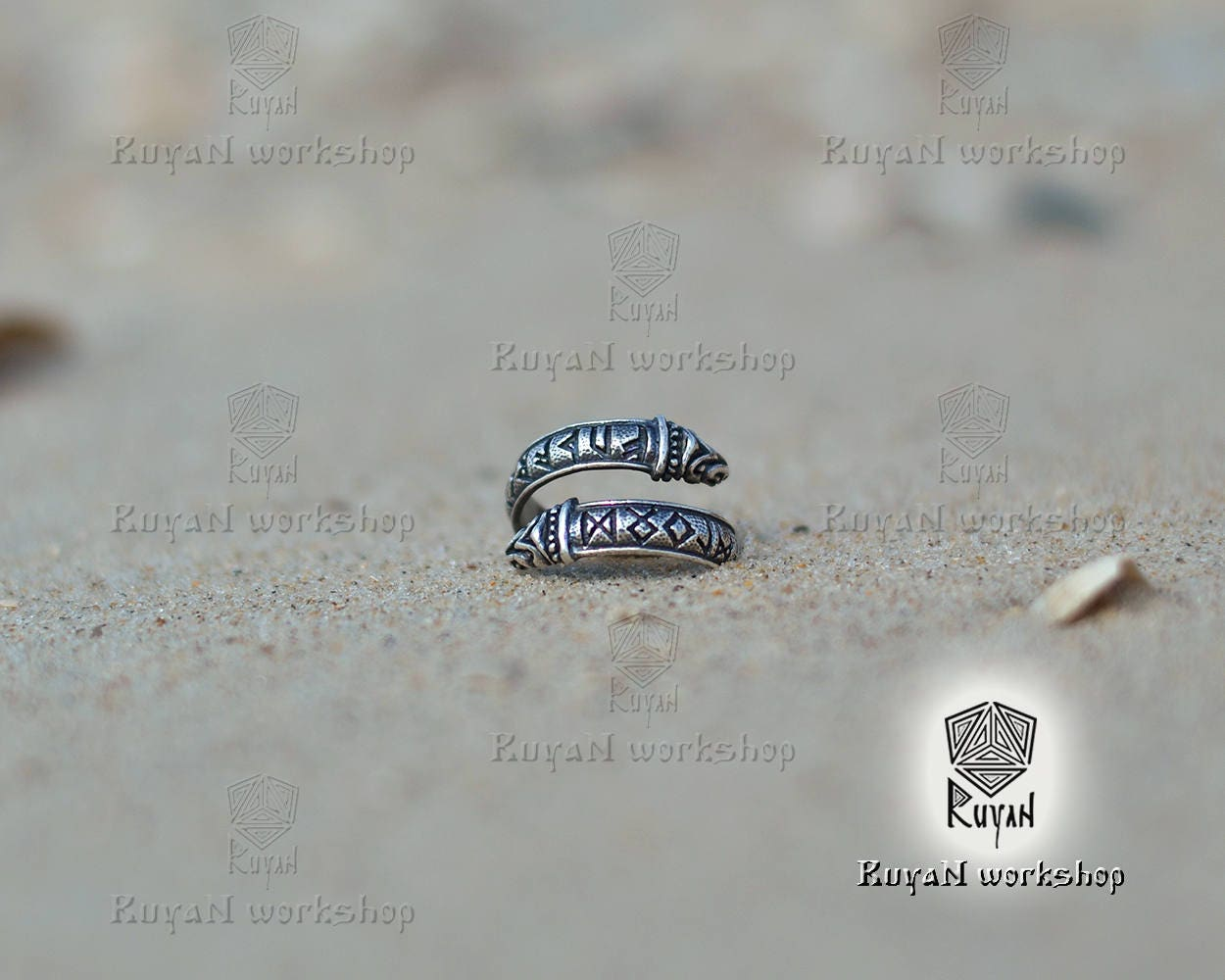Bague avec rune de lancien futhark et dragon runes viking - Rune viking traduction ...