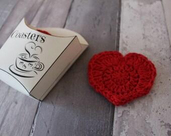 HEART COASTERS heart coaster heart coasters tea coffee coasters gift box valentine's gift