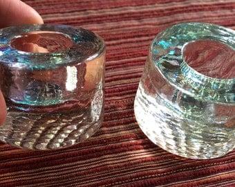 Modern Candlestick,Modern Candleholder,Short Candlestick,Clear Candleholder,Clear Candle Pair,Crystal Candleholder,Glass Candleholder,