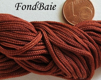 FIL Echeveau 15m nylon tressé 1,5mm Marron BRUN DIY création bracelet shamballa