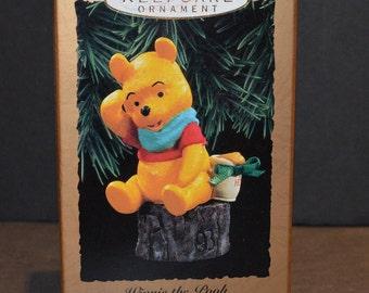 1993 Hallmark Magic Ornament - Winnie the Pooh-Hear Pooh's Voice